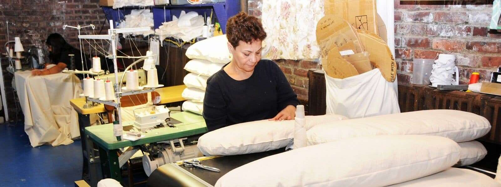 Handcrafted Organic Bedding in the USA - White Lot
