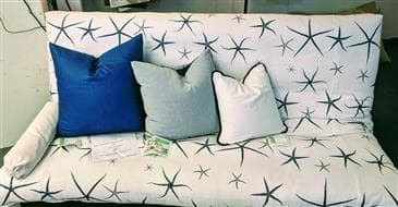 White Lotus Home Decorative Pillow Cover in Organic Cotton Twill Fabric