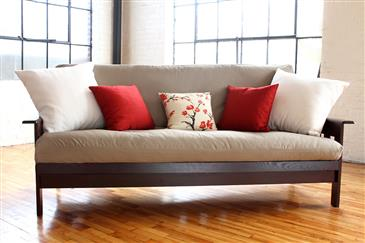 """White Lotus Home FUTON/MATTRESS COVERS up to 6"""" thick Cotton Sateen Fabric -WLH D"""