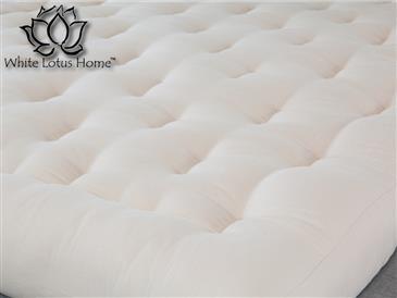 White Lotus Home Green Cotton Boulder Mattress with Fire Retardant