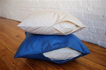 White Lotus Home Green Cotton Decorative Pillow Inserts