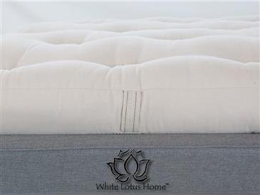White Lotus Home Green Cotton Mattress without Fire Retardant