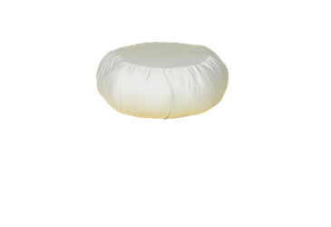 White Lotus Home Kapok filled ZAFU Meditation Pillow in Sateen Natural Fabric - WLH D