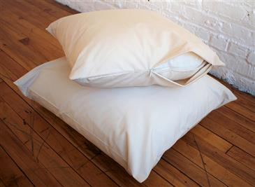 White Lotus Home Organic Barrier Cloth Pillow Protectors