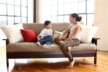 White Lotus Home Organic Cotton Boulder Futon without Fire Retardant