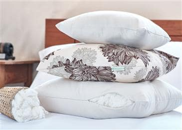 White Lotus Home Organic Cotton Decorative Pillow Inserts