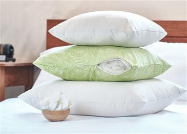 White Lotus Home Decorative Pillow Cover in Organic Cotton Sateen Solid and Print Fabric