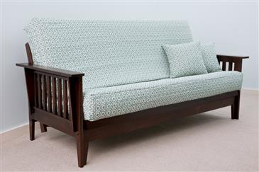 the bedworks of maine oxford futon frame dark wood oxford futon frame   handcrafted in the usa  rh   whitelotushome