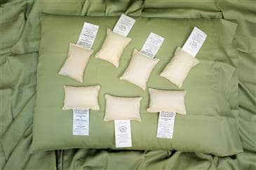 White Lotus Home Pillow Samples