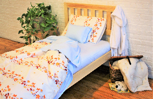 White Lotus Home Organic Cotton Sateen Sheets in Various Printed and Solid Fabrics