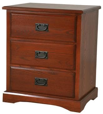 The Bedworks of Maine Three Drawer Nightstand by The Bedworks of Maine