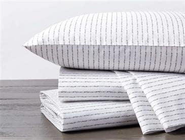 Coyuchi Tidal Stripe Printed Organic Sheet Set