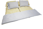 100% Cotton Sheets in Light Blue