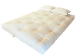 White Lotus Home Green Cotton and Wool Foam Dreamton Futon