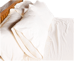 Decorative Pillow Covers in Organic Cotton Sateen in Natural