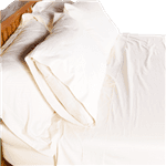 Pure Cotton Sateen Sheets in Natural