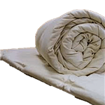 White Lotus Home Wool Topper in Cotton Case